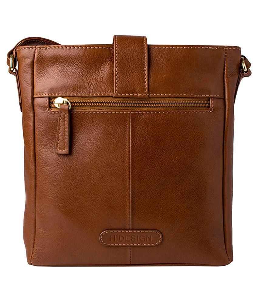 d803c1070b Hidesign Azha 03 Tan Leather Sling Bag - Buy Hidesign Azha 03 Tan ...