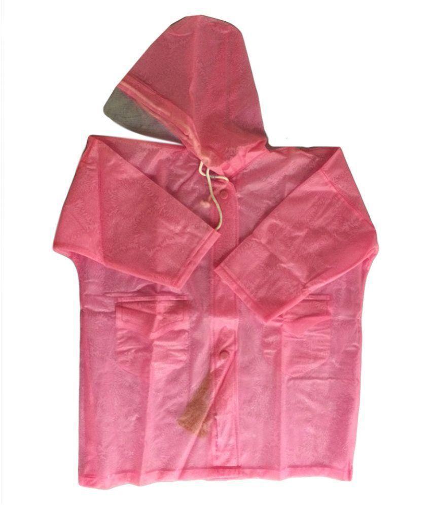Prince Rainwear Pink Nylon Rainwear for Girls - Pack of 3