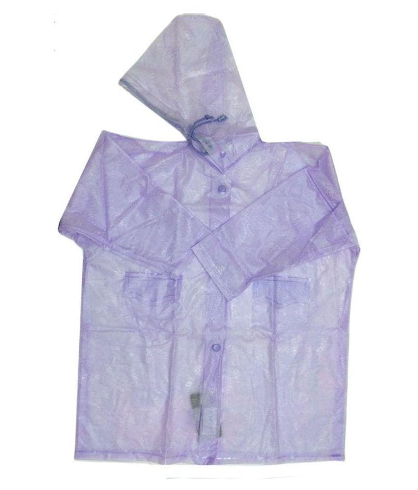 Prince Rainwear Purple Nylon Rainwear for Girls - Pack of 3