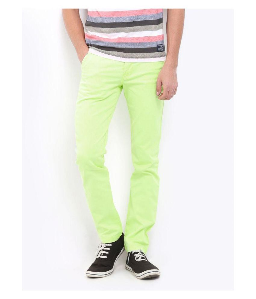 United Colors Of Benetton Green Slim Fit Chinos