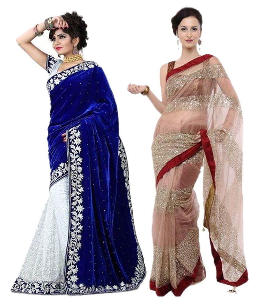 Varya Fashion Multicoloured Georgette Saree Combos