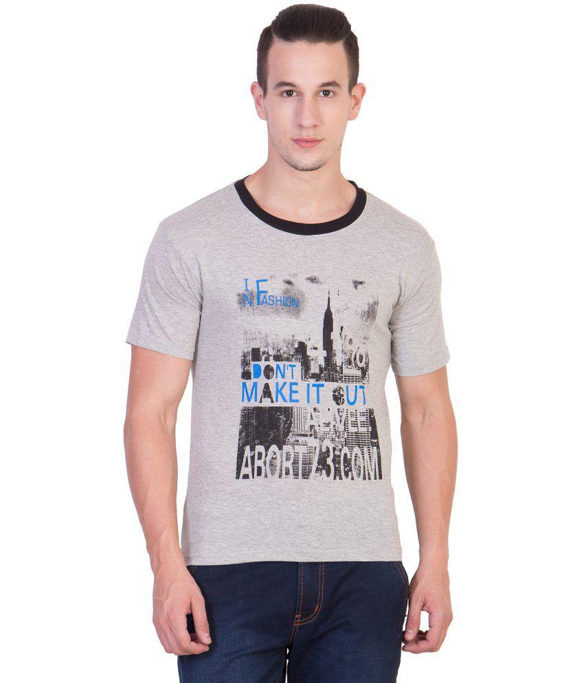 Xscape Grey Round T Shirt