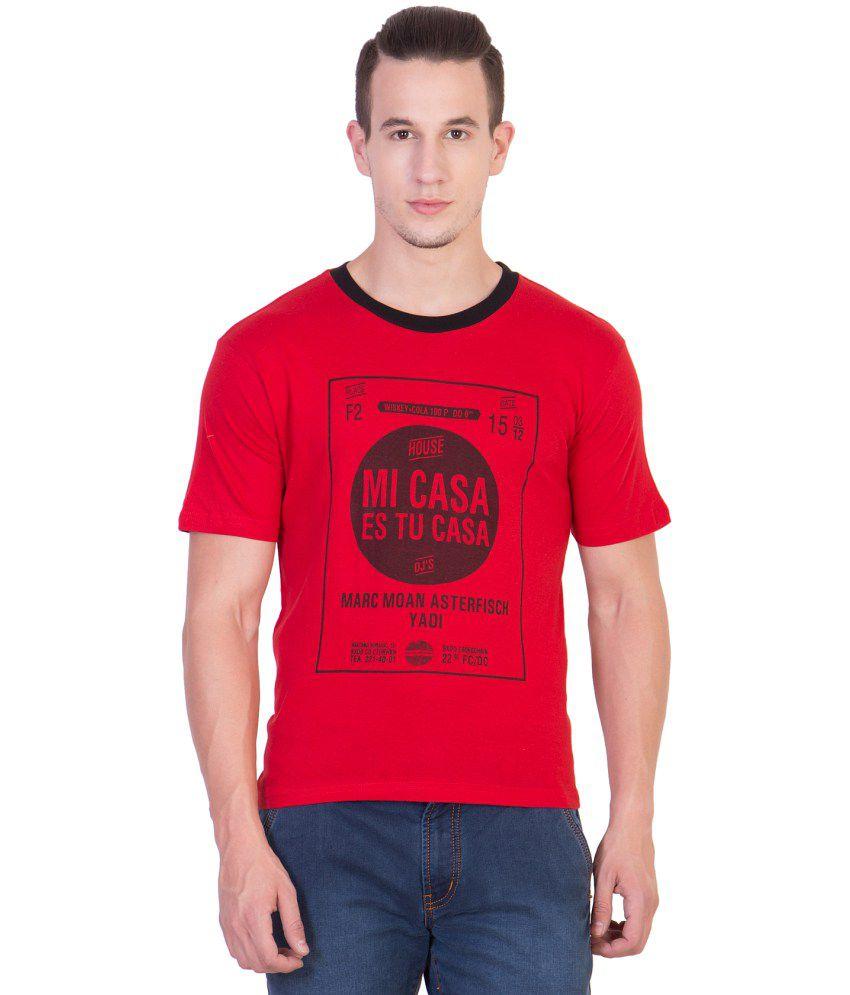 Xscape Red Round T Shirt