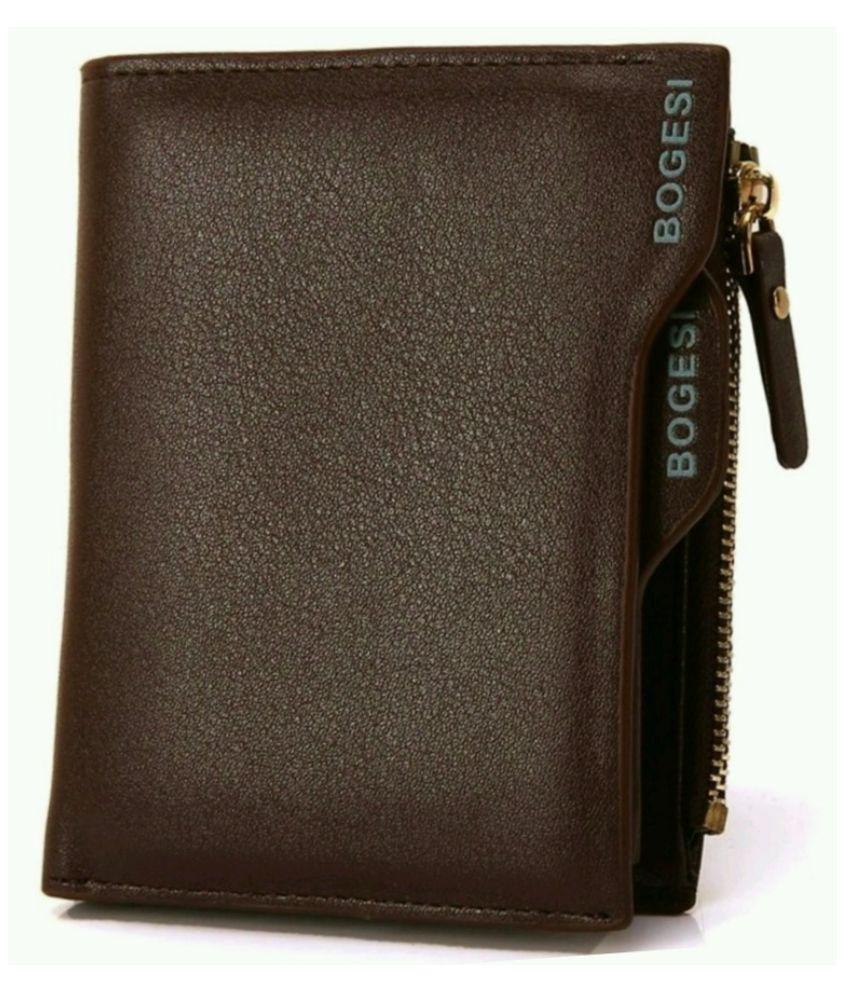 Bogesi Brown Formal Wallet For Men
