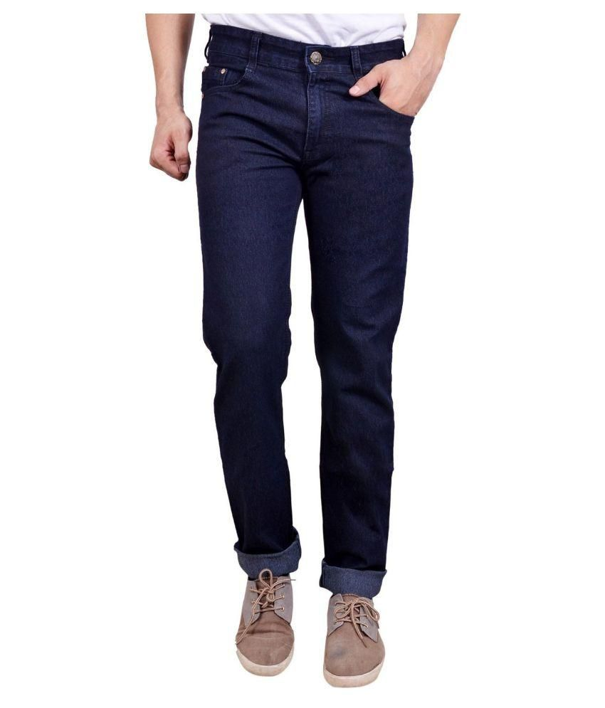 Dtusk Blue Regular Fit Distressed Jeans