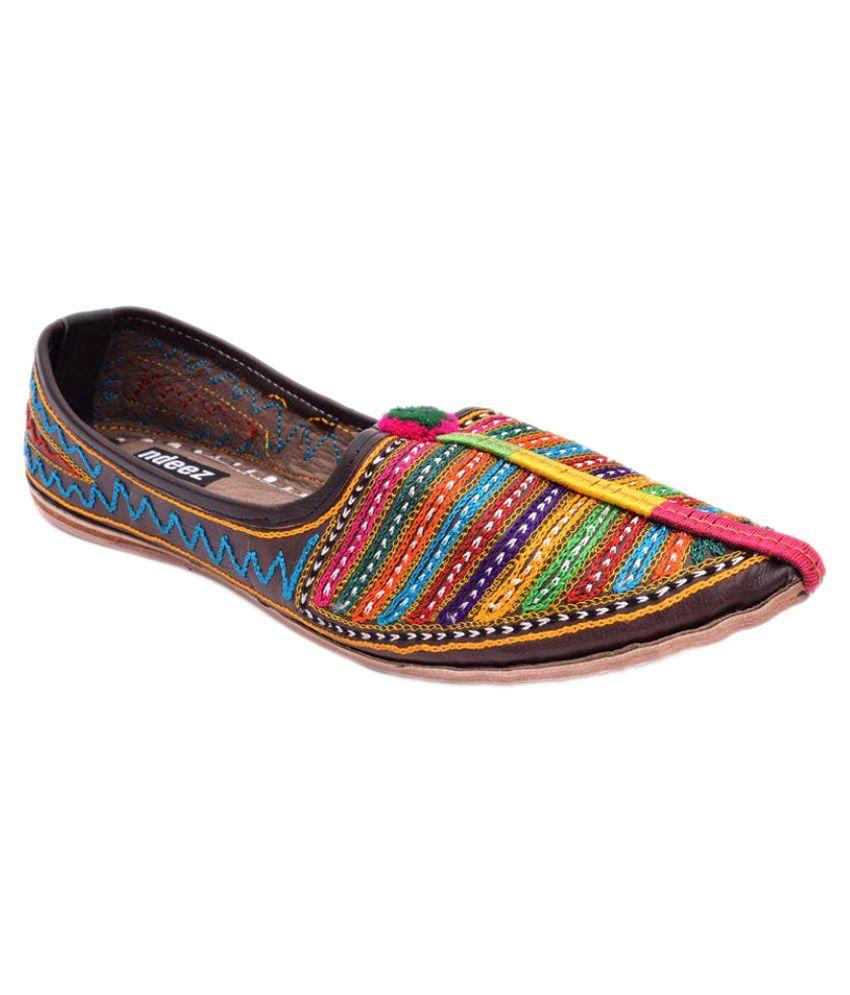 Ndeez Multi Color Ethnic Footwear