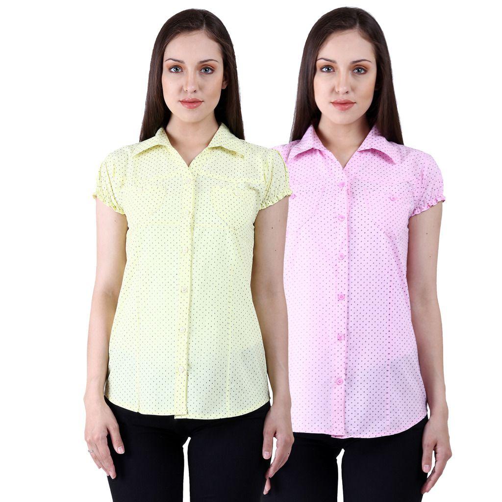 Numbrave Multi Color Cotton Shirts