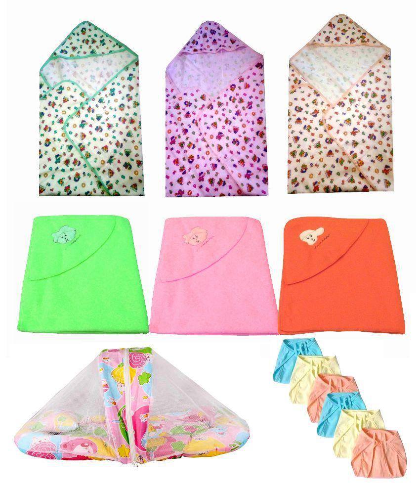 Big Bear Multi Color Baby Bedsheets Baby Blanket/Baby Swaddle/Baby Sleeping Bag