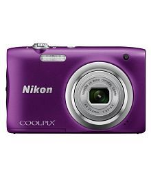 Nikon A100 Purple with Additional 16GB Card and Power Bank