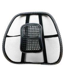 Trendmakerz Black Car Back Support Seat Cover