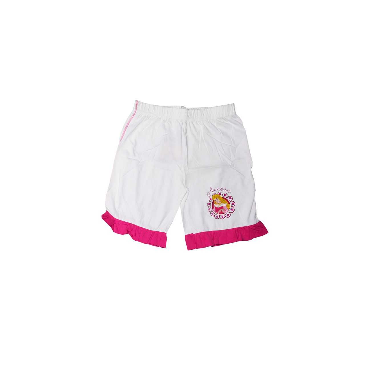 Fubu White Cotton Blend Shorts for Girls