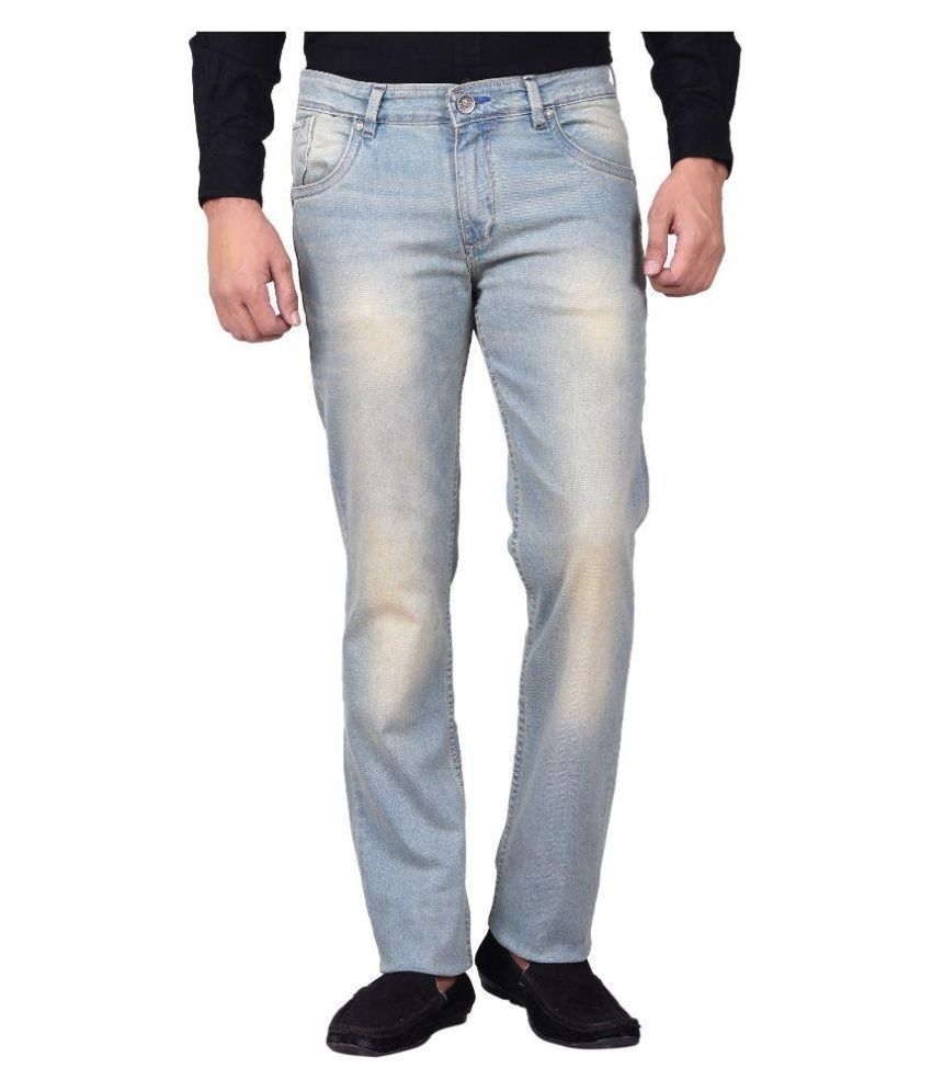 Moustache Blue Skinny Fit Faded Jeans Blue