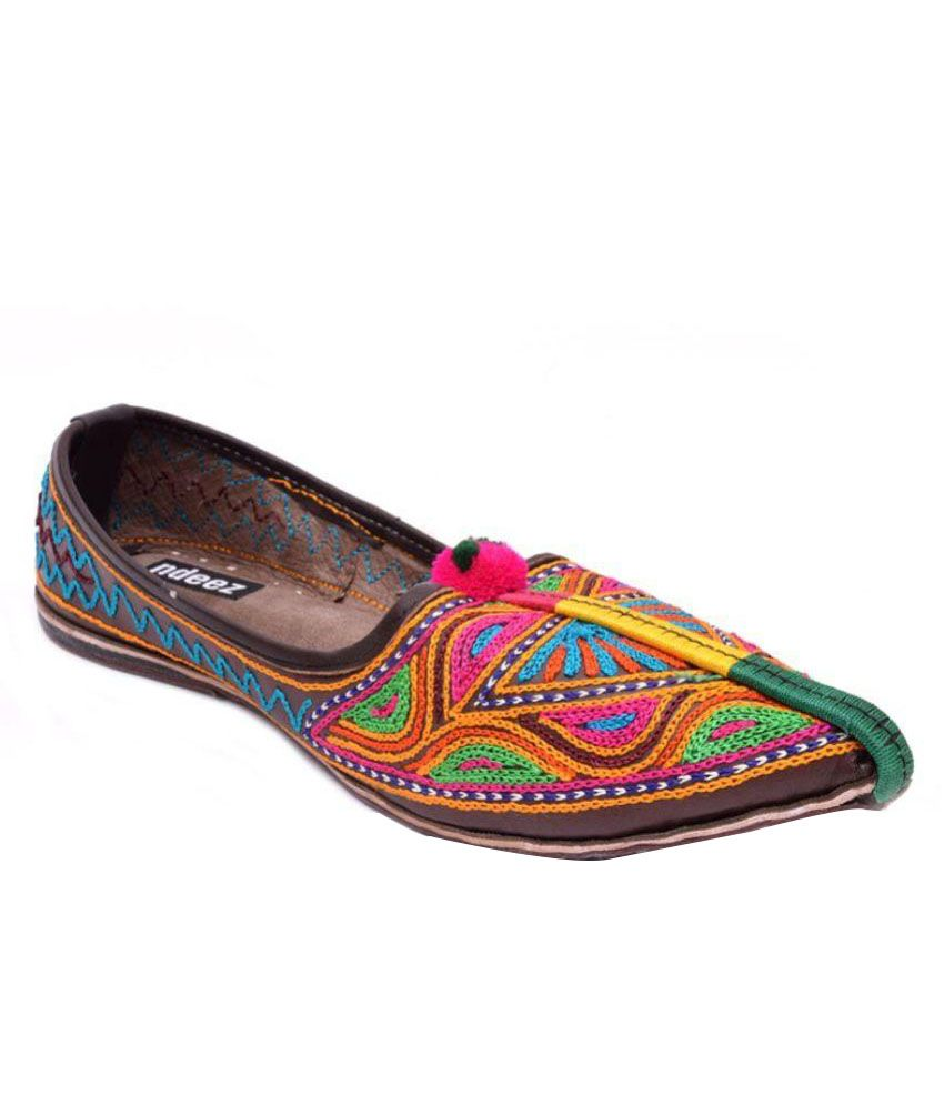 Ndeez Multi Color Flats