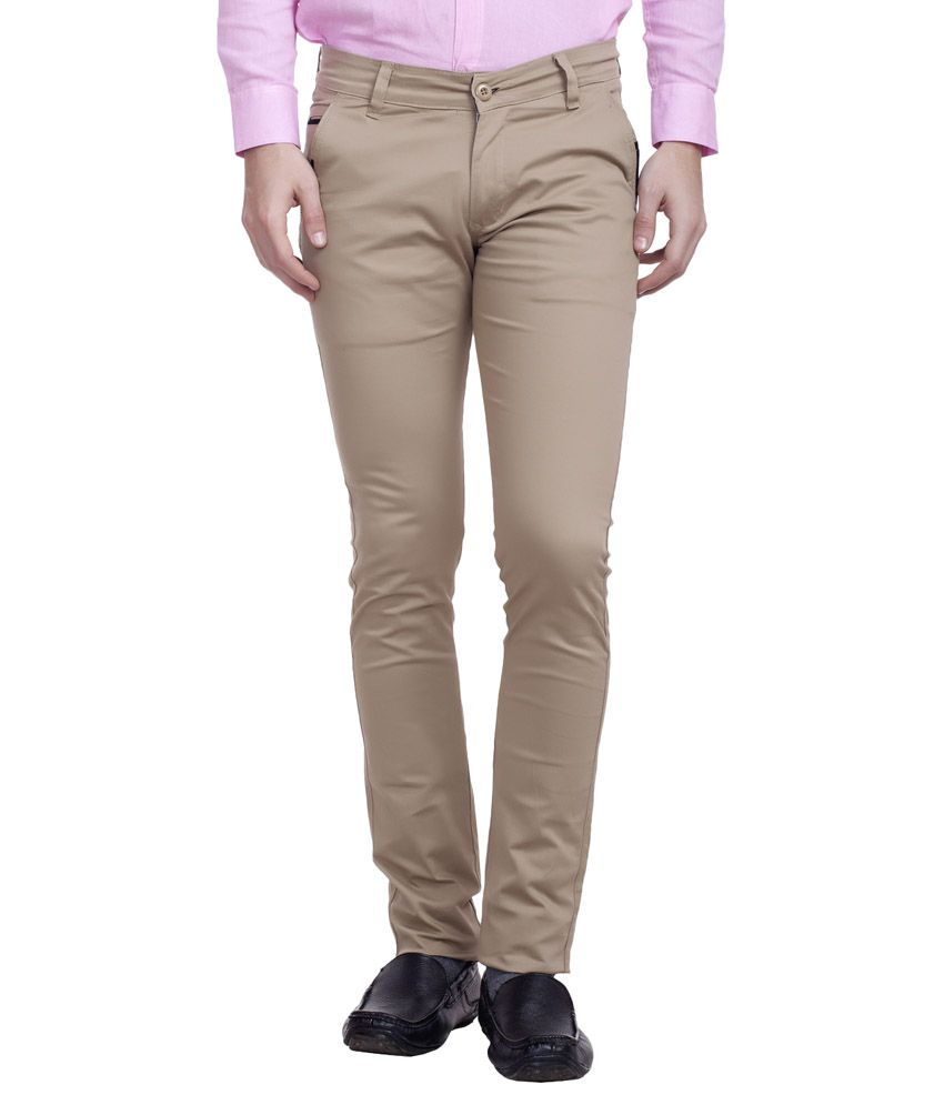 Nimegh Beige Slim Fit Chinos