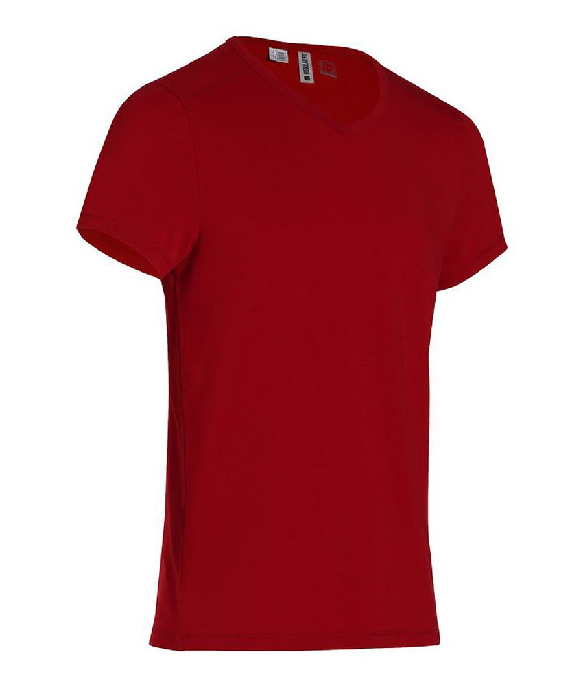 DOMYOS Comf Slim Rouge Men's Fitness T-Shirt By Decathlon
