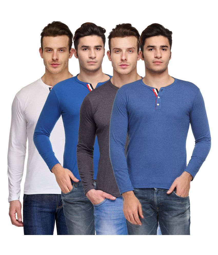 TSX Multi Henley T Shirt Pack of 3