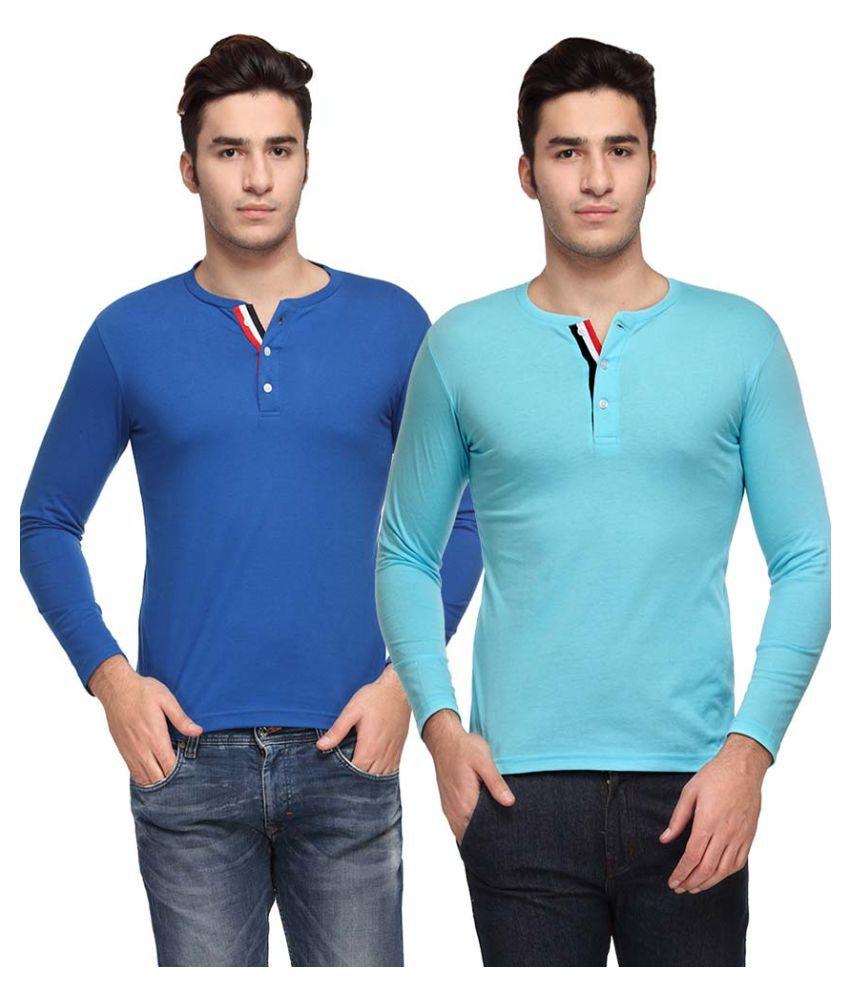 TSX Multi Henley T Shirt Normal Wash