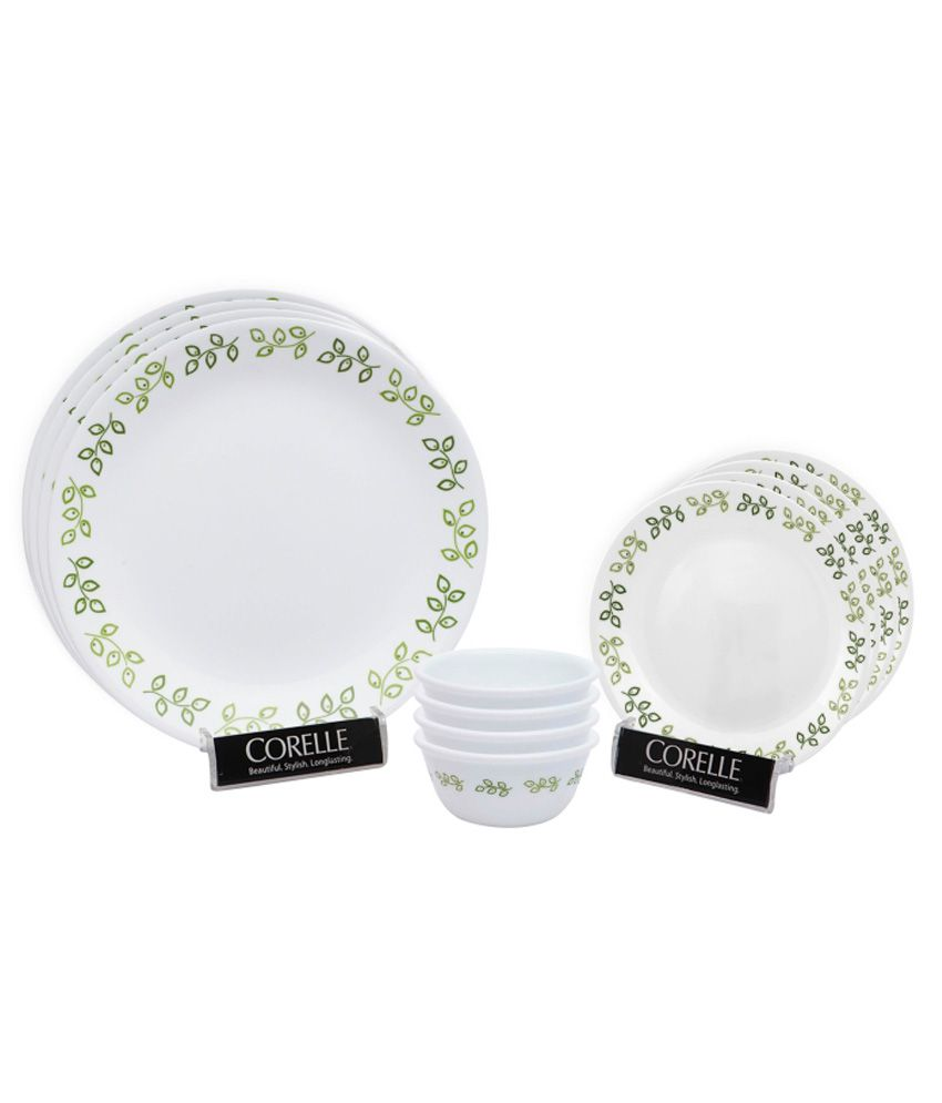 Corelle India Impressions Neo Leaf 12 Pieces Dinner Set Buy Online At Best P