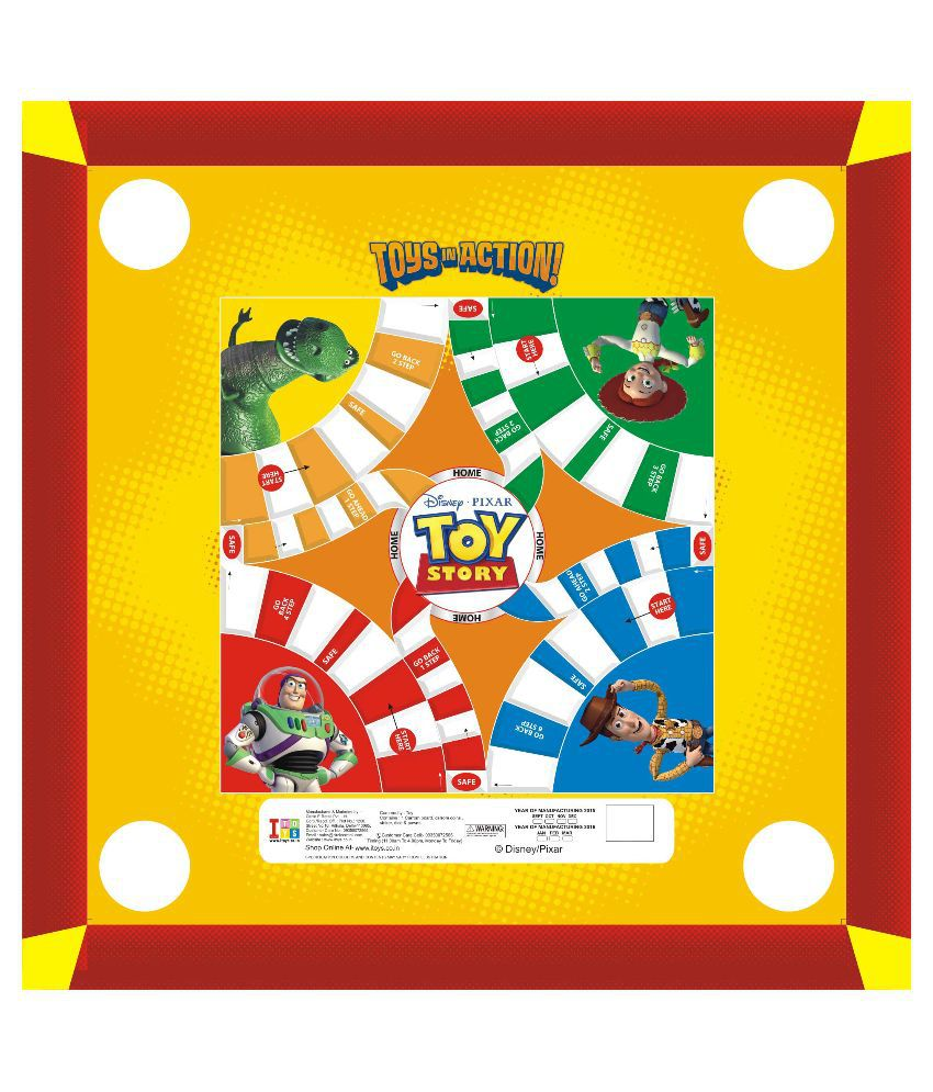 Disney Toy Story Carom Board With Coins.