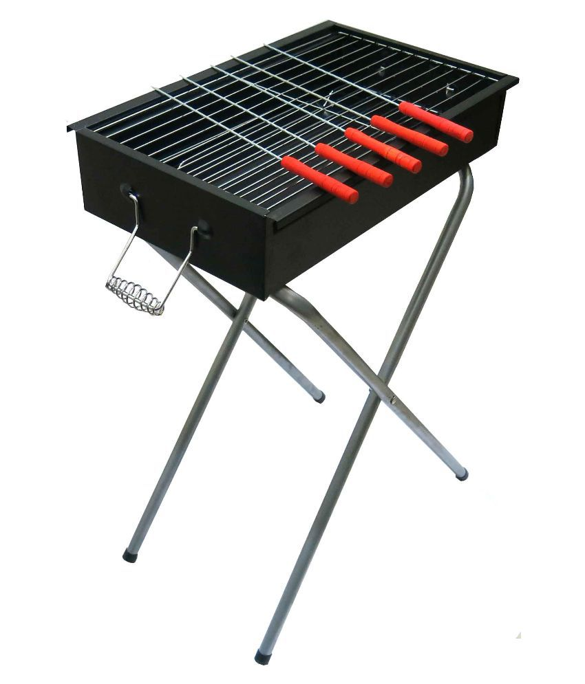fabrilla barbeque portable stand with 5 skewers bbq. Black Bedroom Furniture Sets. Home Design Ideas