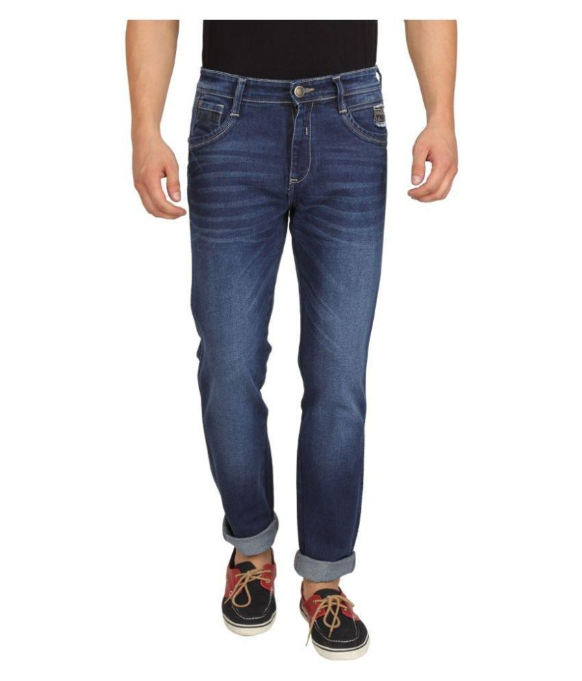 Wrangler Blue Regular Fit Faded Jeans