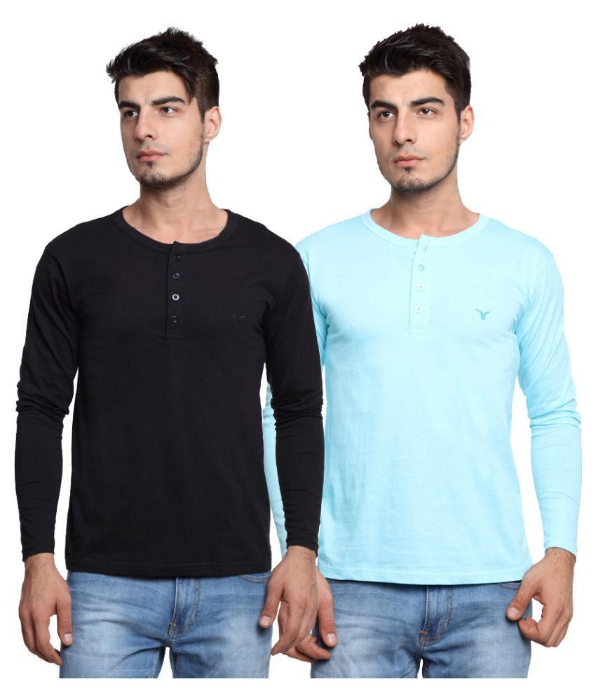 Youthen Multi Henley T Shirt Pack of 2