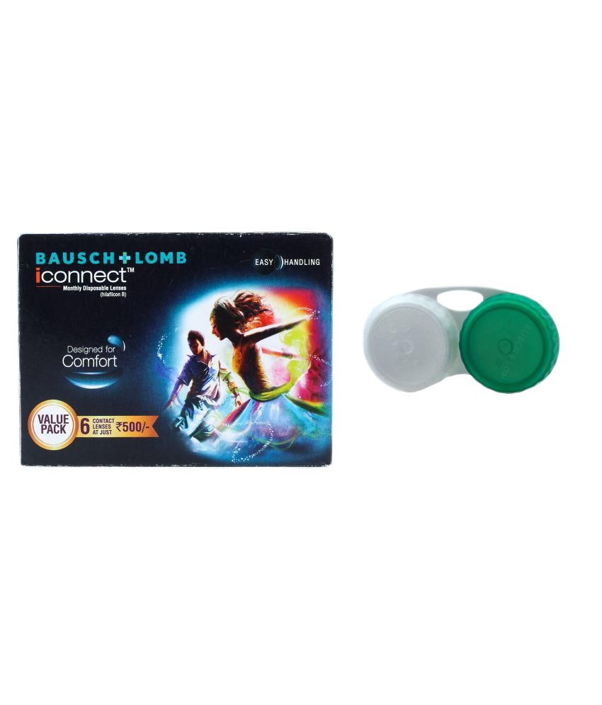 Bausch & Lomb Iconnect Value Pack Non Colored Monthly Disposable Contact Lenses