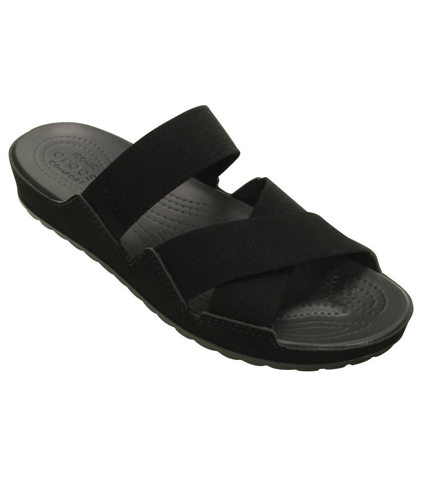 Crocs Relaxed Fit Black Slippers