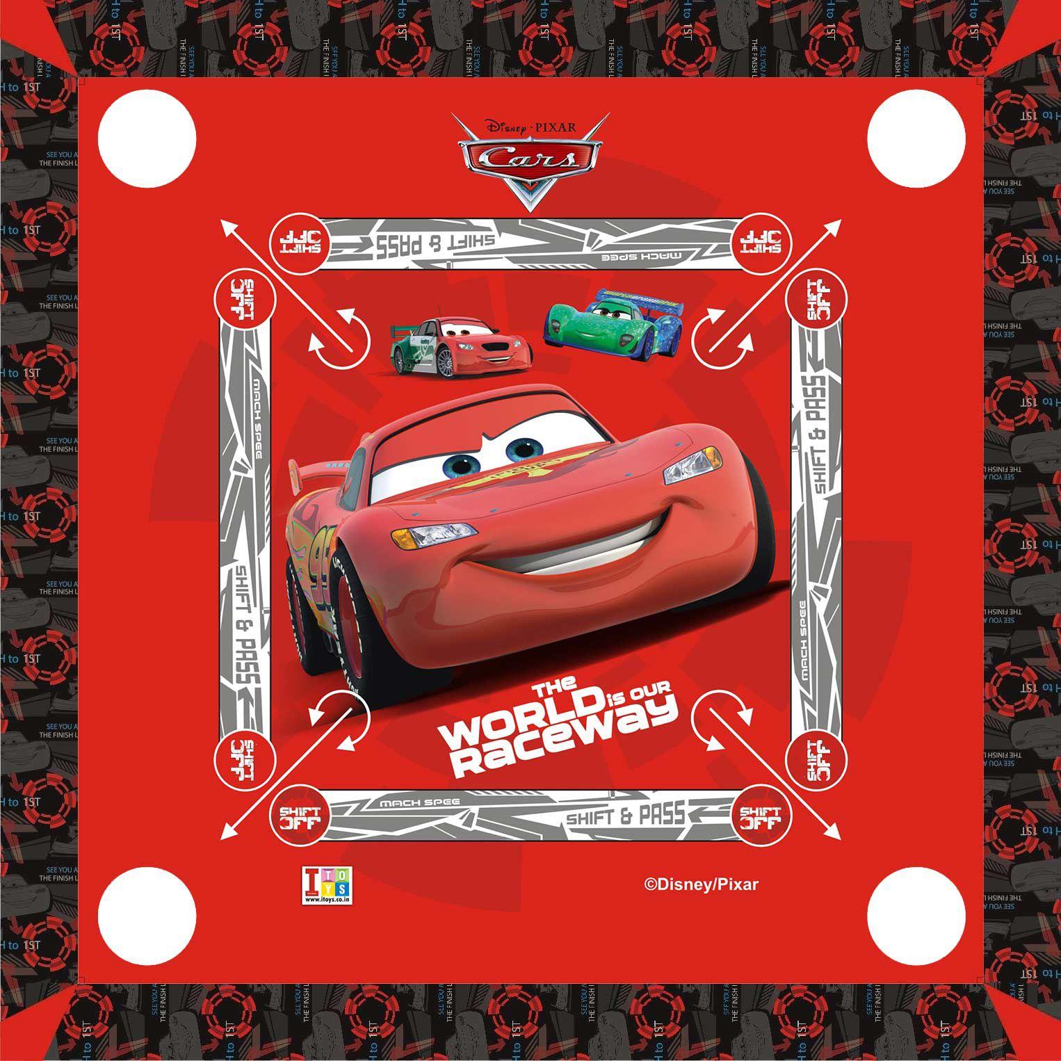 Disney Pixar Cars Carom Board Game