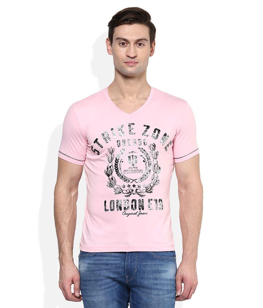 Duke Pink V-Neck T Shirt