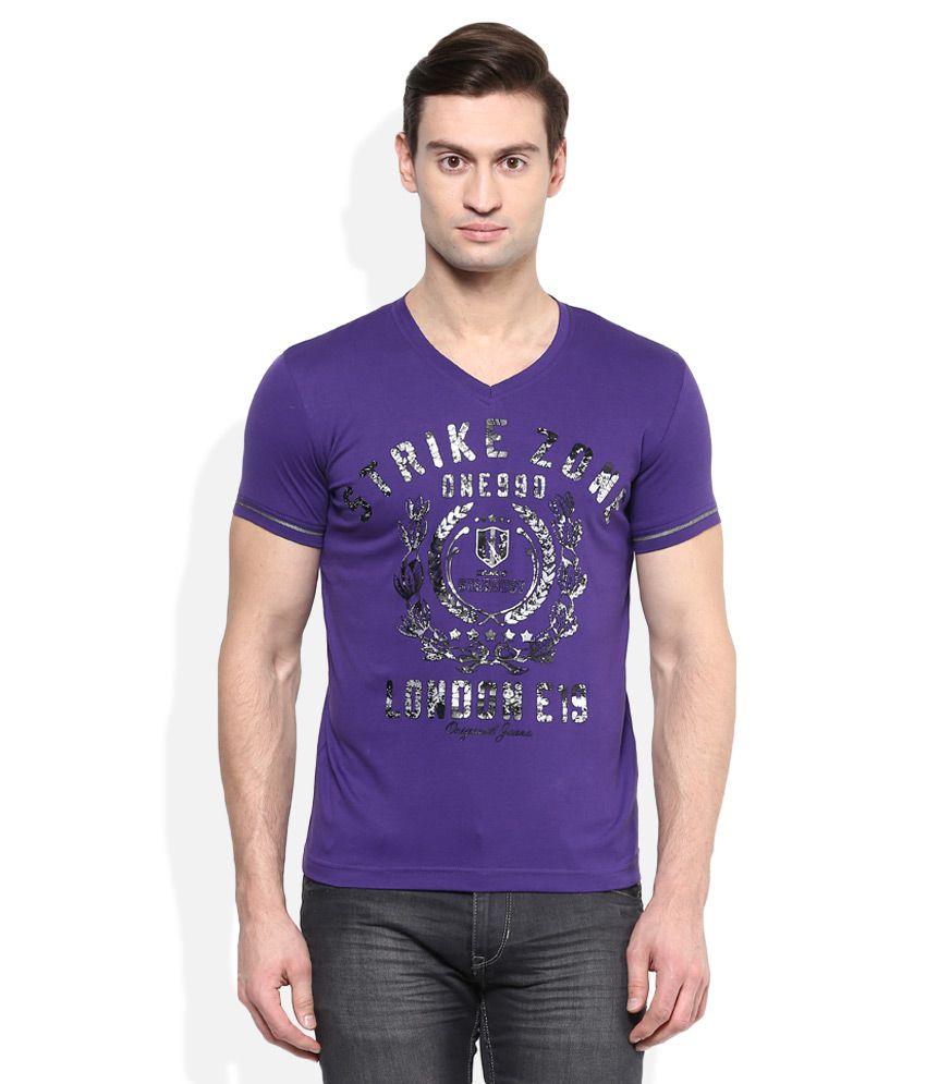 Duke Purple V-Neck T Shirt
