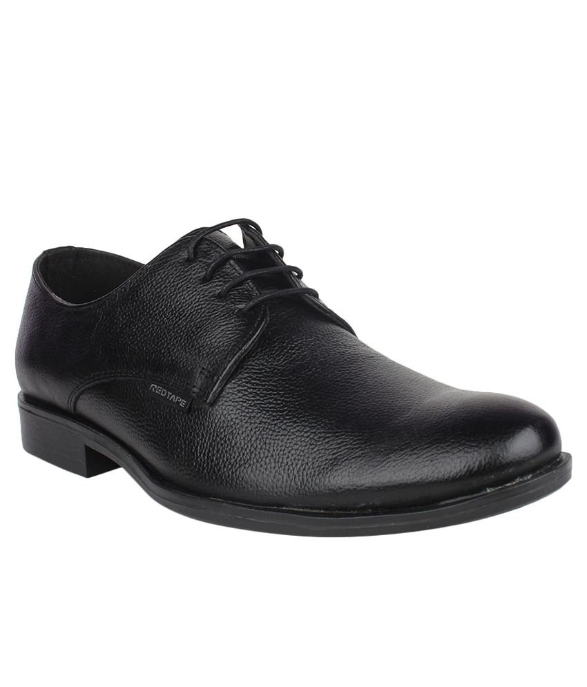 Red Tape Black Derby Genuine Leather Formal Shoes Price in ...