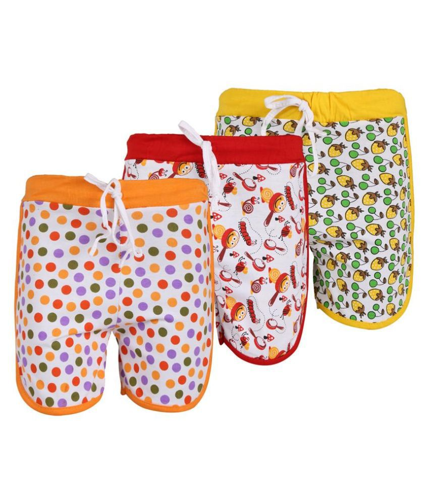Weecare Multicolor Shorts - Pack Of 3