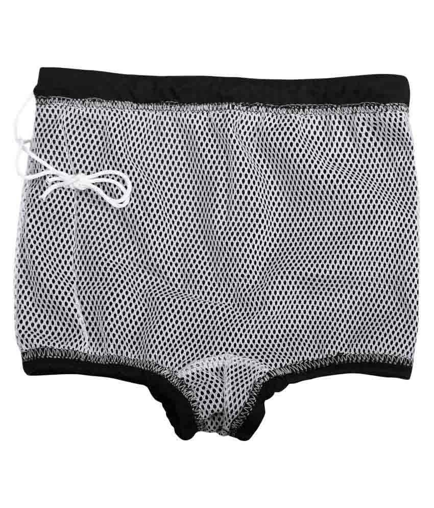 Bosky Black Polyester Swimwear Trunk for Boys/ Swimming Costume