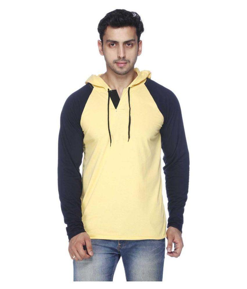 Demokrazy Yellow Hooded T Shirt