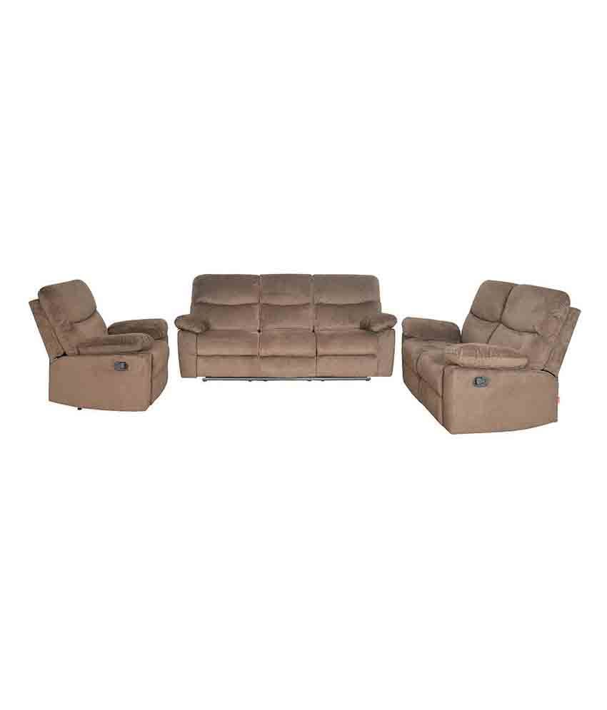 Home By Nill Rays Fabric 3 2 1 Recliner Sofa Set