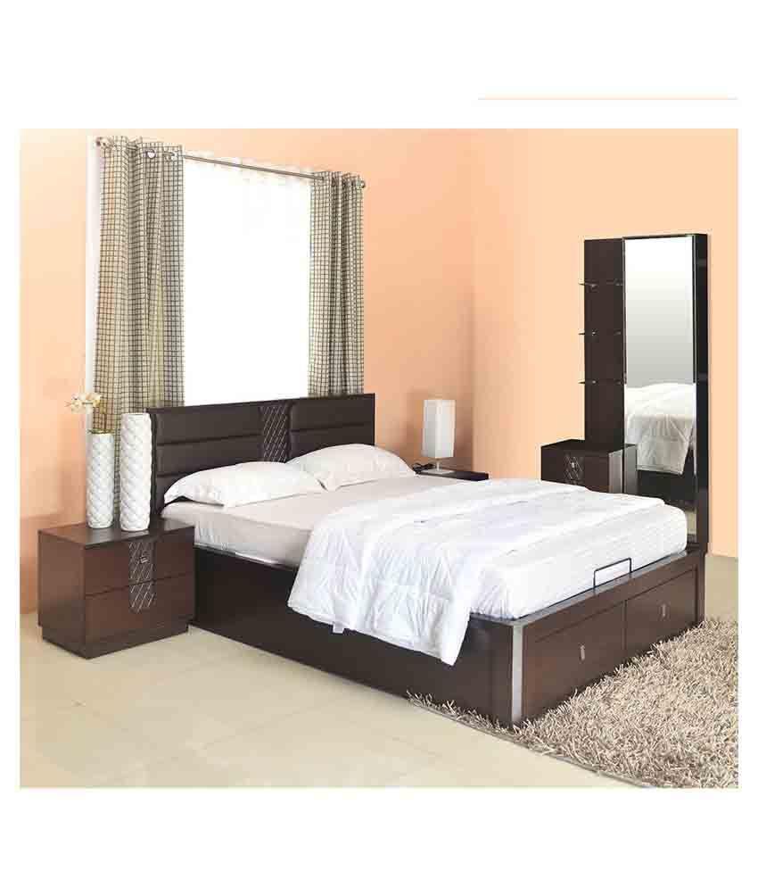 homenilkamal triumph storage king size bedroom set