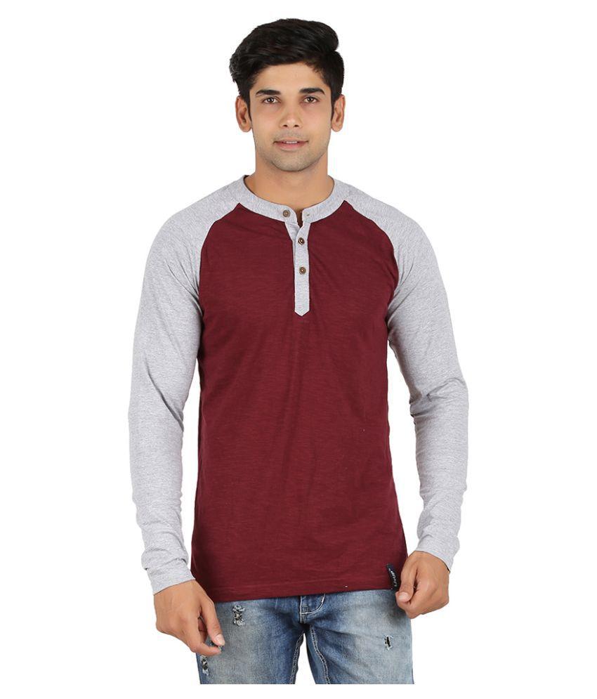LivUP Maroon Henley T Shirt