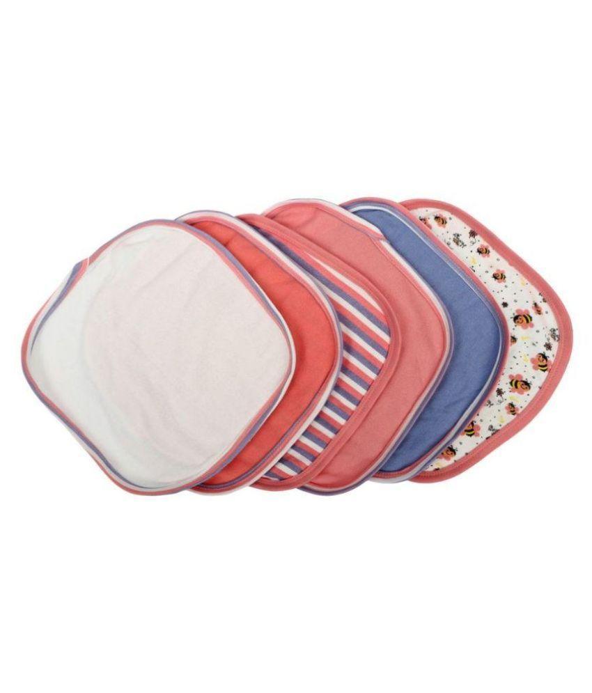 Morisons Baby Dreams Multicolor Cotton Face Towels - Pack Of 6