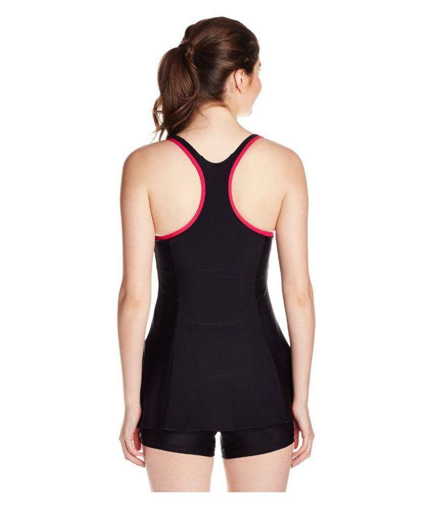 4b0414e7cf Buy SPEEDO RACERBACK SWIM DRESS BLACK/ Swimming Costume Online at ...