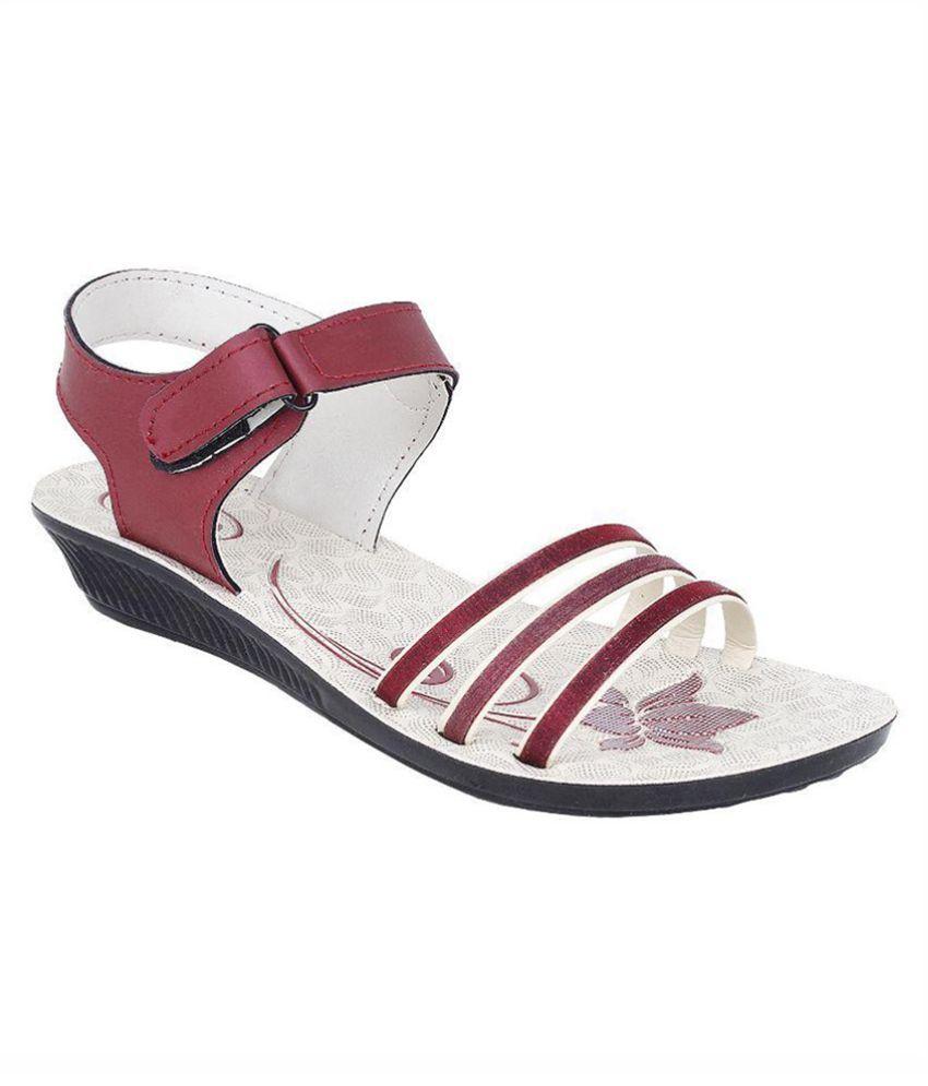 Super Matteress Red Wedges Heels