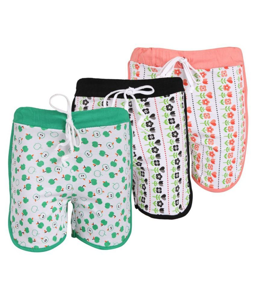 Weecare Multicolored Cotton Shorts - Pack Of 3