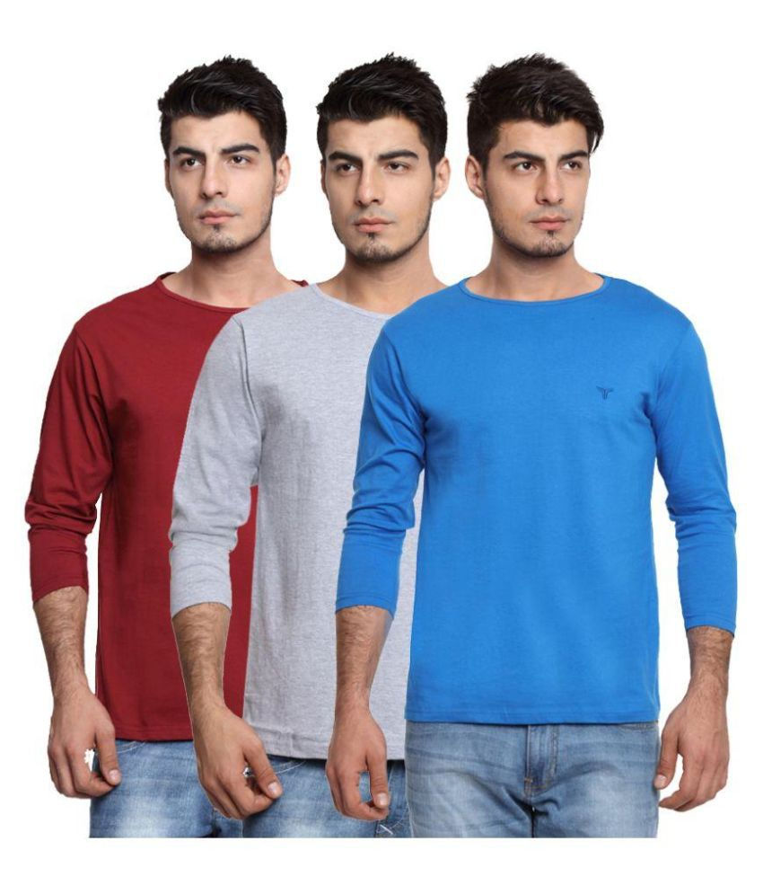 Youthen Multi Round T Shirt Pack of 3
