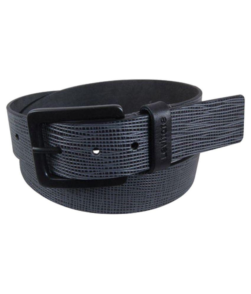 Levitate Black Leather Belt for Men