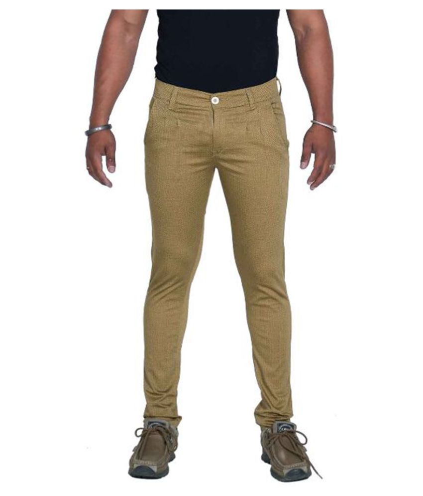 Bows & Arrows Beige Regular Fit Solid Jeans