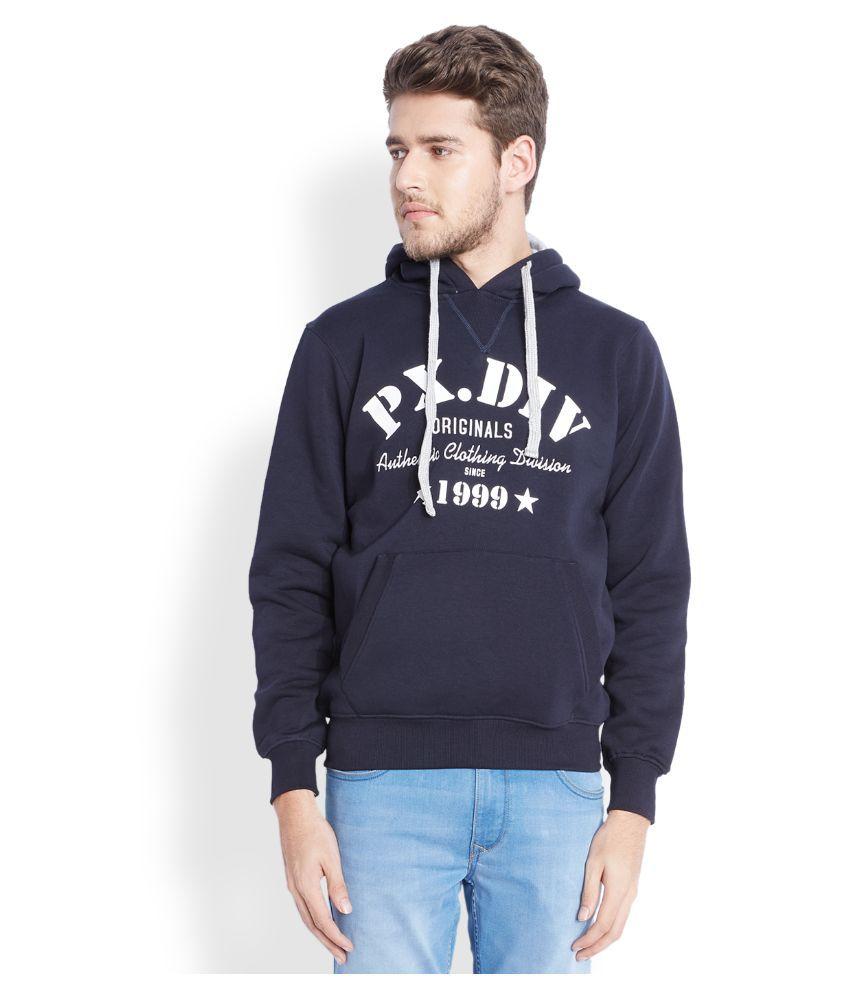 Parx Navy Hooded T Shirt