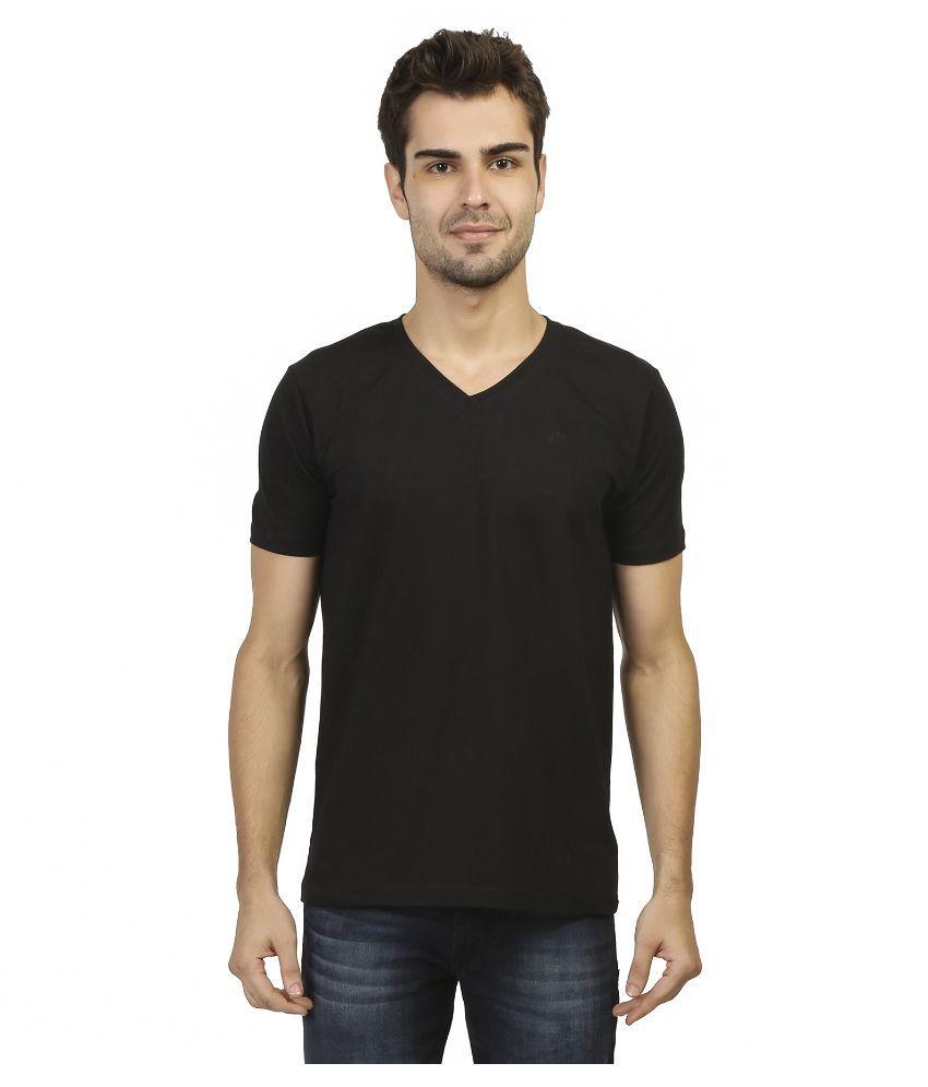 Aliep Black V-Neck T Shirt