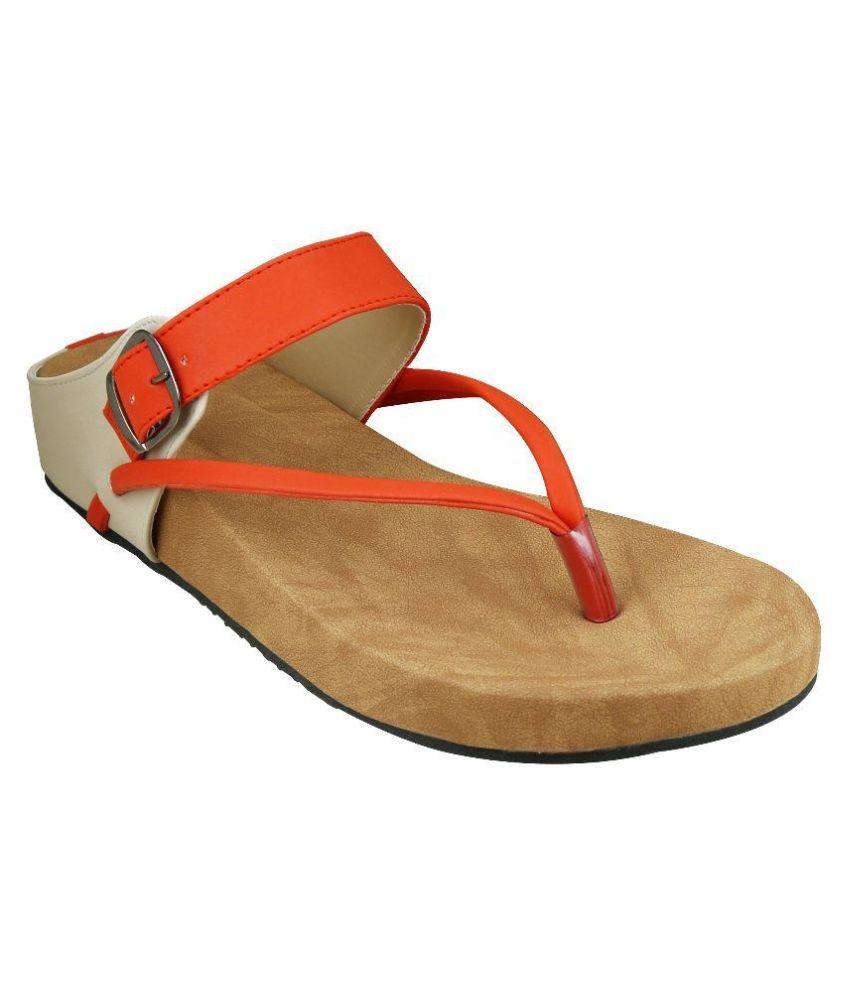 Smart Traders Orange Slippers