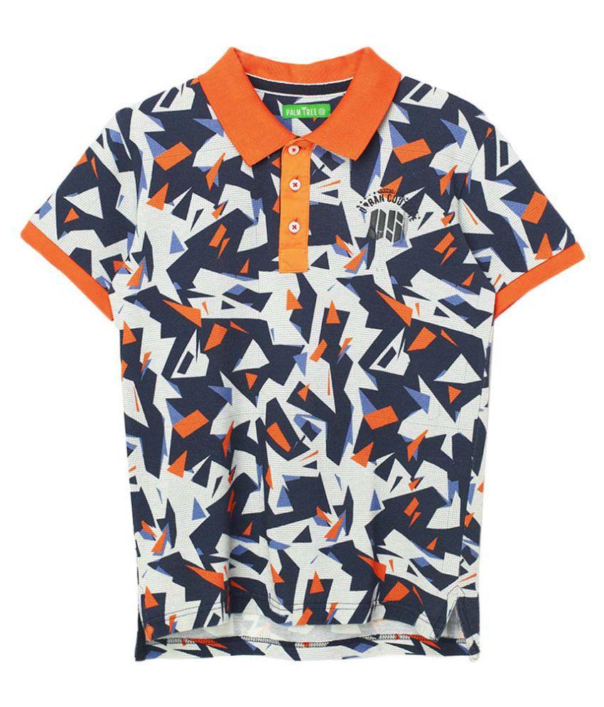 Gini Jony Multicoloured Printed Polo T Shirt Snapdeal
