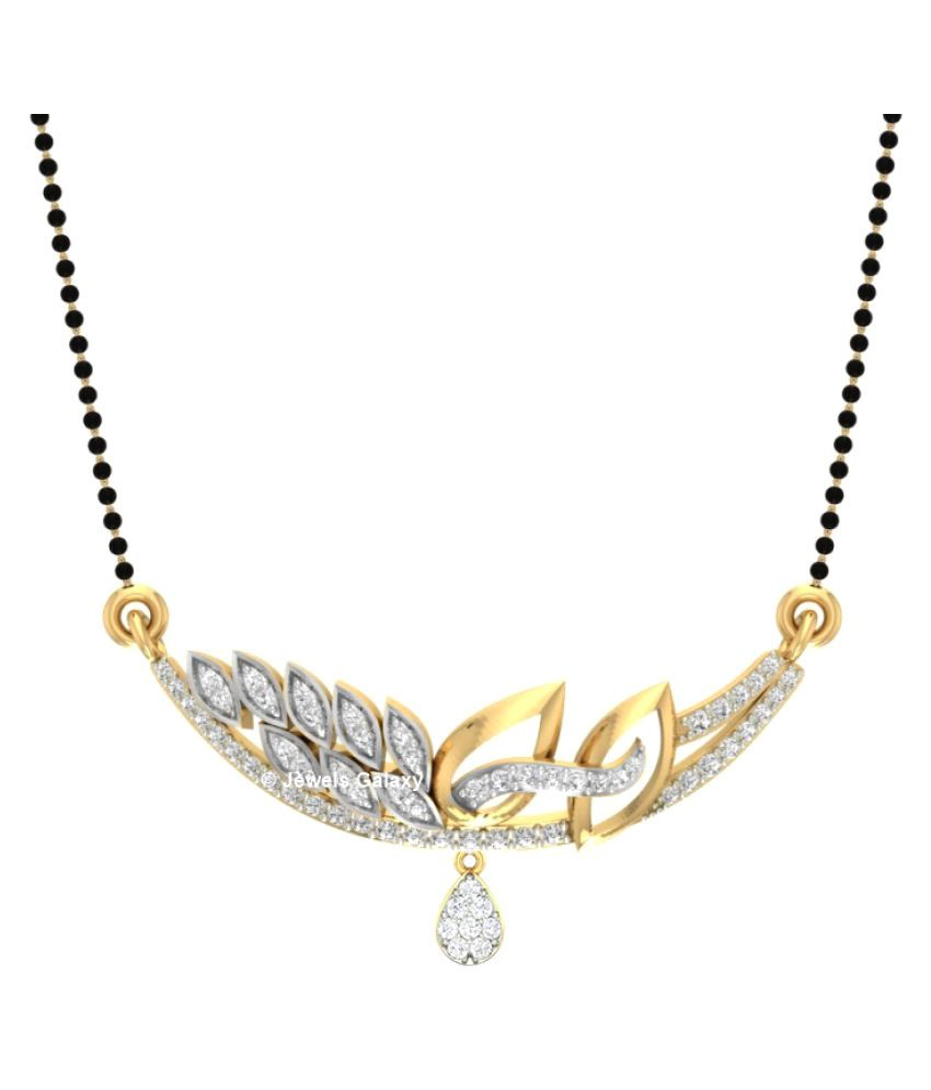 Jewels Galaxy Golden Alloy Mangalsutra Chain